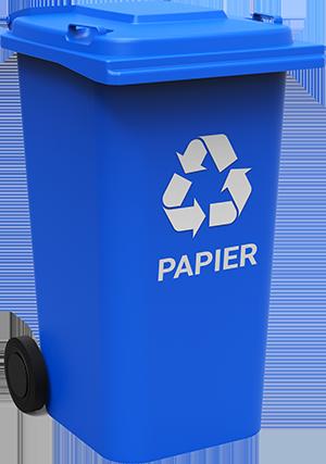 grafika przedstawiająca pojemnik na odpady frakcji papier