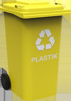 grafika przedstawiająca pojemnik na odpady frakcji tworzywa sztuczne