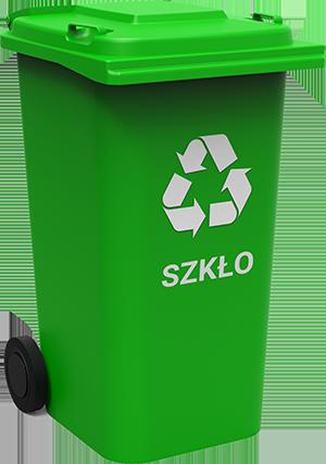 grafika przedstawiająca pojemnik na odpady frakcji szkło
