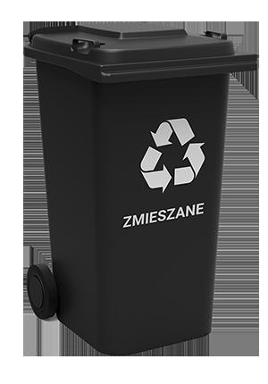 grafika przedstawiająca pojemnik na odpady frakcji zmieszanej