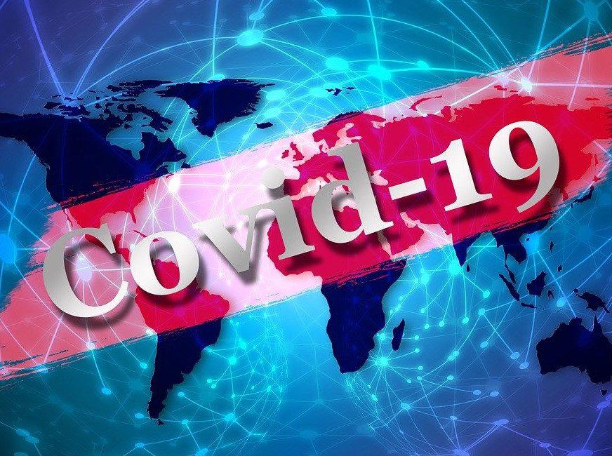 grafika przedstawiająca wirusa COVID-19