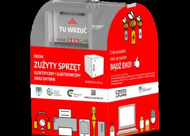 Już są - pierwsze pojemniki na elektrośmieci w Częstochowie