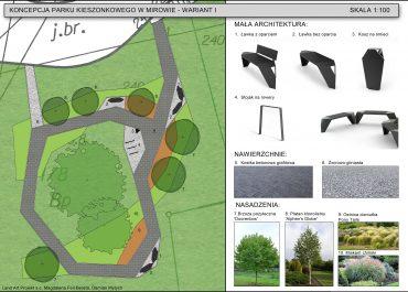 Drogi mieszkańcu!  Wybieramy wariant Parku Kieszonkowego w dzielnicy Mirów przy ul. Mstowskiej. Możesz nam w tym pomóc!